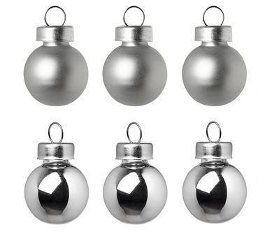- Yılbaşı Ağaç Süsü Gümüş Renk 6 cm 6 Adet