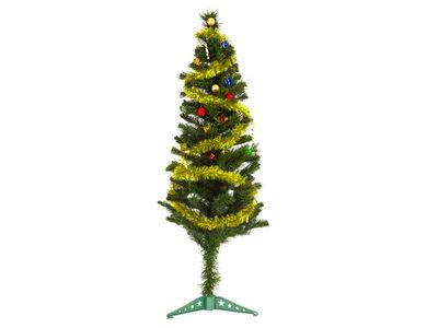 Yılbaşı Çam Ağacı Altın Renk Metalize Sim İle