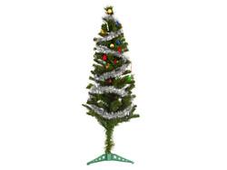 Parti Dünyası - Yılbaşı Çam Ağacı Gümüş Renk Metalize Sim İle