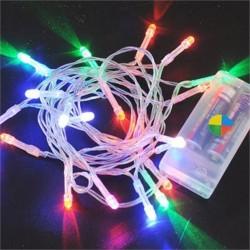 - Yılbaşı Pilli Renkli Işık 3 metre