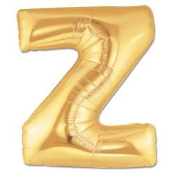 Parti Dünyası - Z Harfi Altın Renk Folyo Balon 100 cm
