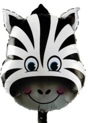 Parti Dünyası - Zebra Folyo Balonu 45 cm