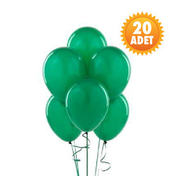 Parti - Zümrüt Yeşili 20 Li Latex Balon