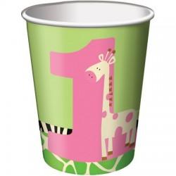 Parti Dünyası - Zürafalı 1 Yaş Kız 8 li Bardak