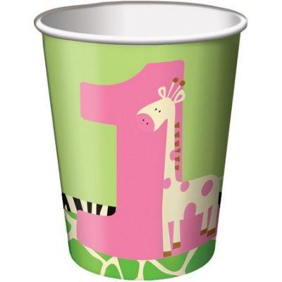 Zürafalı 1 Yaş Kız 8 li Bardak