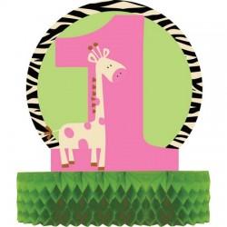 Converting - Zürafalı 1 Yaş Kız Masa Orta Süsü