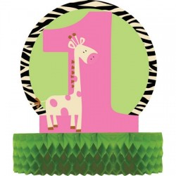 Parti Dünyası - Zürafalı 1 Yaş Kız Masa Orta Süsü